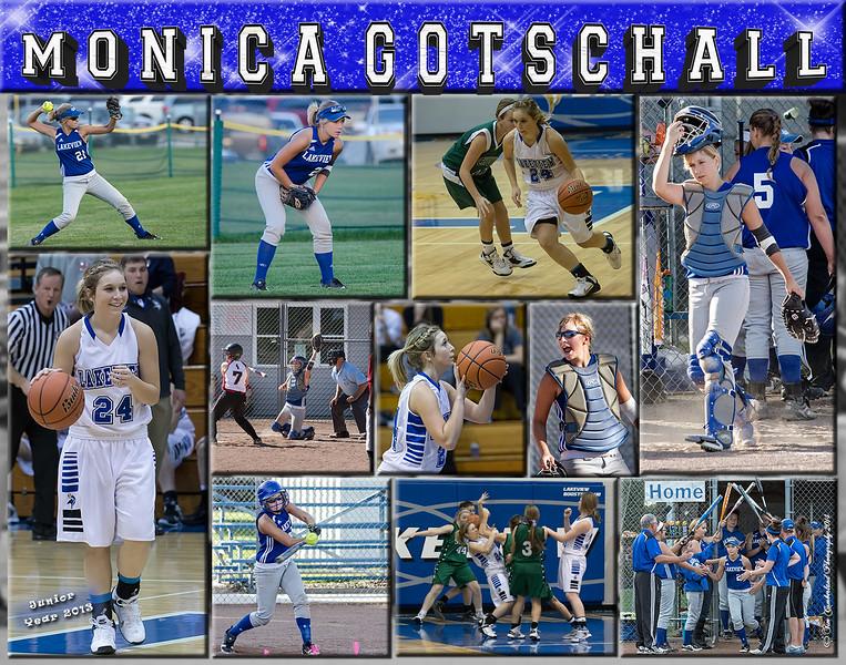 Monica Gotschall 11 x 14 Sports Collage - Version 2