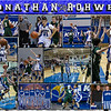 Jonathan Rohwer 16 x 20 inch Basketball Collage