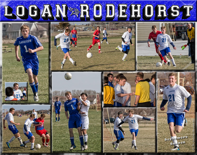 Logan Rodehorst 11 x 14 Soccer Collage