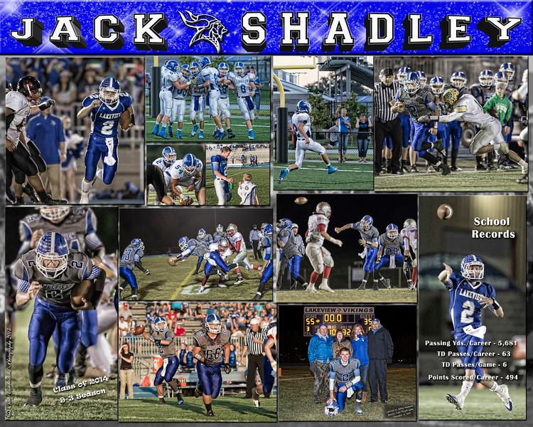 Jack Shadley 16 x 20 Football Collage 2013