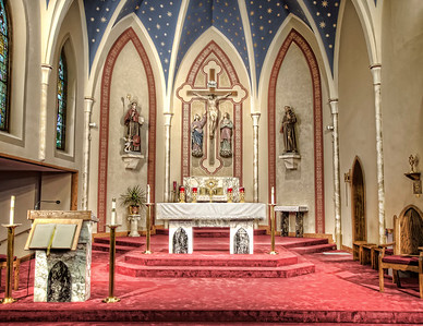 St. Bonaventure Catholic Church Before and After Remodeling Photos