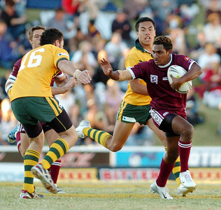 TOWNSVILLE, QLD 13 JUL 2007 - Queensland v Combined Affiliated States - PHOTO: CAMERON LAIRD (PH 0418 238811)
