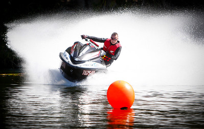 02 June 2013 Townsville, QLD - Glen (Hondaman) Watson in action during the NQPWCC (North Queensland Personal Water Craft Club) race meet on Townsville's Ross River - Photo: Cameron Laird (Ph: 0418238811)