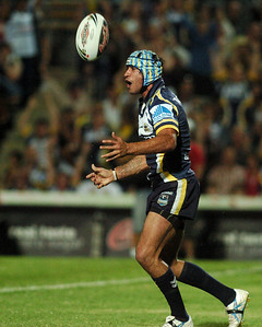 08 Sep 2007 Townsville, Qld, Australia - Thurston celebrates his second half try - North Queensland Cowboys v Bulldogs (Dairy Farmers Stadium) - PHOTO: CAMERON LAIRD (Ph: 0418 238811)