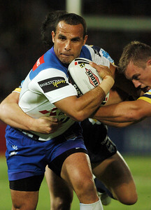 08 Sep 2007 Townsville, Qld, Australia - Bulldogs winger Hazem El Masri on the charge - North Queensland Cowboys v Bulldogs (Dairy Farmers Stadium) - PHOTO: CAMERON LAIRD (Ph: 0418 238811)