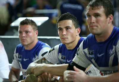 31 Aug 2007 Townsville, Qld, Australia - Sonny Bill Williams on the bench - North Queensland Cowboys v Bulldogs (Dairy Farmers Stadium) - PHOTO: CAMERON LAIRD (Ph: 0418 238811)