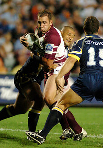 13 MAR 2004 TOWNSVILLE, QLD - North Queensland Cowboys v Manly Sea Eagles (Dairy Farmers Stadium) - PHOTO: CAMERON LAIRD