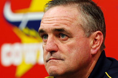 27 SEP 2005 TOWNSVILLE, QLD - Graham Murray at a North Queensland Cowboys media conference - PHOTO: CAMERON LAIRD