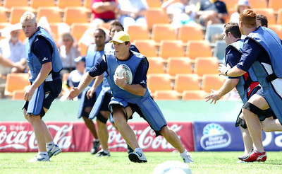 28 SEP 2005 TOWNSVILLE, QLD - North Queensland Cowboys final training session before departing Townsville to take on the Wests Tigers in the NRL grand final - PHOTO: CAMERON LAIRD