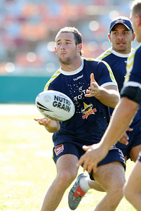 26 AUG 2006 TOWNSVILLE, QLD - Aaron Payne at Cowboys training before their away match against the Rabbitohs - PHOTO: CAMERON LAIRD