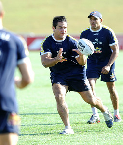 26 AUG 2006 TOWNSVILLE, QLD - Carl Webb at Cowboys training before their away match against the Rabbitohs - PHOTO: CAMERON LAIRD