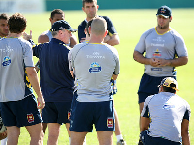 29 Aug 2007 Townsville, Qld, Australia - Graham Murray speaks to his charges at Cowboys training - PHOTO: CAMERON LAIRD (Ph: 0418 238811)