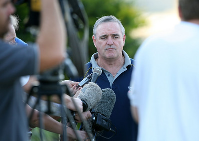 15 Sep 2007 Townsville, Qld, Australia - Cowboys coach Graham Murray talks to the media before Cowboys training - PHOTO: CAMERON LAIRD (Ph: 0418 238811)