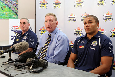 23 Nov 2007 Townsville, Qld, Australia - North Queensland Cowboys coach Graham Murray, CEO Peter Parr and fullback Matt Bowen on the announcement of Matt's re-signing until the end of the 2011 season - PHOTO: CAMERON LAIRD (Ph: 0418 238811)