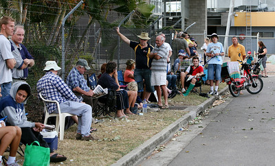 04 Sep 2007 Townsville, Qld, Australia - Fans queue for remaining tickets outside Dairy Farmers Stadium - PHOTO: CAMERON LAIRD (Ph: 0418 238811)