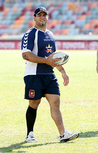 15 Sep 2007 Townsville, Qld, Australia - Carl Webb makes a surprise appearance at Cowboys training - PHOTO: CAMERON LAIRD (Ph: 0418 238811)