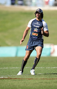 14 June 2008 Townsville, Qld - Johnathan Thurston at Cowboys training -  Photo: Cameron Laird (Ph: 0418 238811)