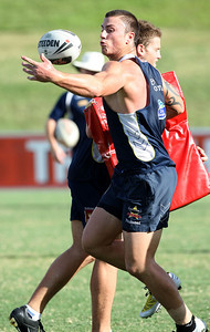 12 Mar 2008 Townsville, Qld, Australia - Dayne Weston at Cowboys training before their first game in the 2008 NRL season against the Gold Coast Titans - PHOTO: CAMERON LAIRD (Ph: 0418 238811)