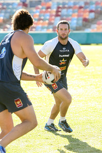 08 May 2008 Townsville, Qld - Aaron Payne at Cowboys training - Photo: Cameron Laird (Ph: 0418 238811)