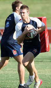 12 Mar 2008 Townsville, Qld, Australia - Matt Bartlett at Cowboys training before their first game in the 2008 NRL season against the Gold Coast Titans - PHOTO: CAMERON LAIRD (Ph: 0418 238811)