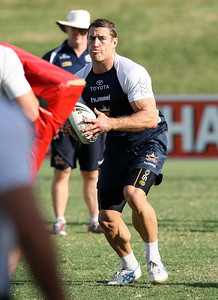 12 Mar 2008 Townsville, Qld, Australia - Luke O'Donnell at Cowboys training before their first game in the 2008 NRL season against the Gold Coast Titans - PHOTO: CAMERON LAIRD (Ph: 0418 238811)