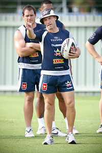 06 January 2009 Townsville, Qld - New coach Neil Henry at North Queensland Cowboys training - Photo: Cameron Laird (Ph: 0418 238811)