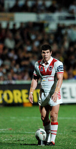 05 AUG 2005 TOWNSVILLE, QLD - Michael Ennis lines up a second half conversion - (North Queensland Cowboys v St George Illawarra Dragons, Dairy Farmers Stadium, Townsville) - PHOTO: CAMERON LAIRD