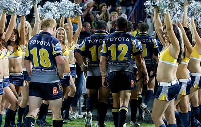 26 April 2008 Townsville, Qld - A dejected Cowboys pack walk off the ark after their 10-12 loss to the Storm - North Queensland Cowboys v Melbourne Storm (Dairy Farmers Stadium) - Photo: Cameron Laird (Ph: 0418 238811)