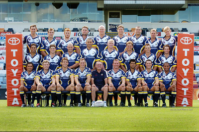 17 FEB 2004 - TOWNSVILLE, QLD - North Queensland Cowboys 2004 squad - PHOTO: CAMERON LAIRD