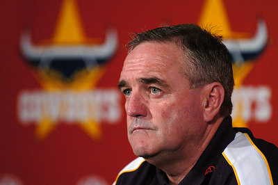 21-SEP-2004  TOWNSVILLE, QLD - Cowboys coach Graham Murray during a media conference - PHOTO: CAMERON LAIRD
