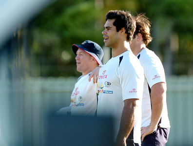 22-SEP-2004  TOWNSVILLE, QLD - Cowboys winger Matt Sing at training - PHOTO: CAMERON LAIRD