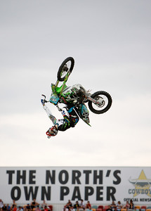 22 November 2008 Townsville, Qld - Levi Sherwood during the Australasian FMX Championship round at Townsville's Dairy Farmers Stadium - Photo: Cameron Laird (Ph: 0418 238811)