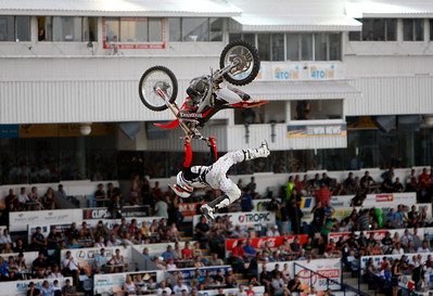 22 November 2008 Townsville, Qld - Josh Sheehan during the Australasian FMX Championship round at Townsville's Dairy Farmers Stadium - Photo: Cameron Laird (Ph: 0418 238811)