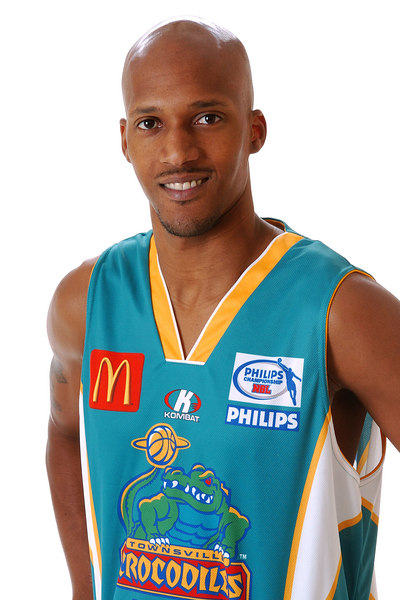 22 AUG 2006 - Jelani Gardner (Guard, 198cm, 93kg) - Home Playing Strip - Townsville McDonald's Crocodiles players/staff photos - PHOTO: CAMERON LAIRD (Ph: 0418 238811)