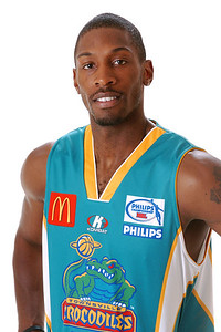 22 AUG 2006 - Larry Abney (Forward 203cm, 100kg) - Home Playing Strip - Townsville McDonald's Crocodiles players/staff photos - PHOTO: CAMERON LAIRD (Ph: 0418 238811)