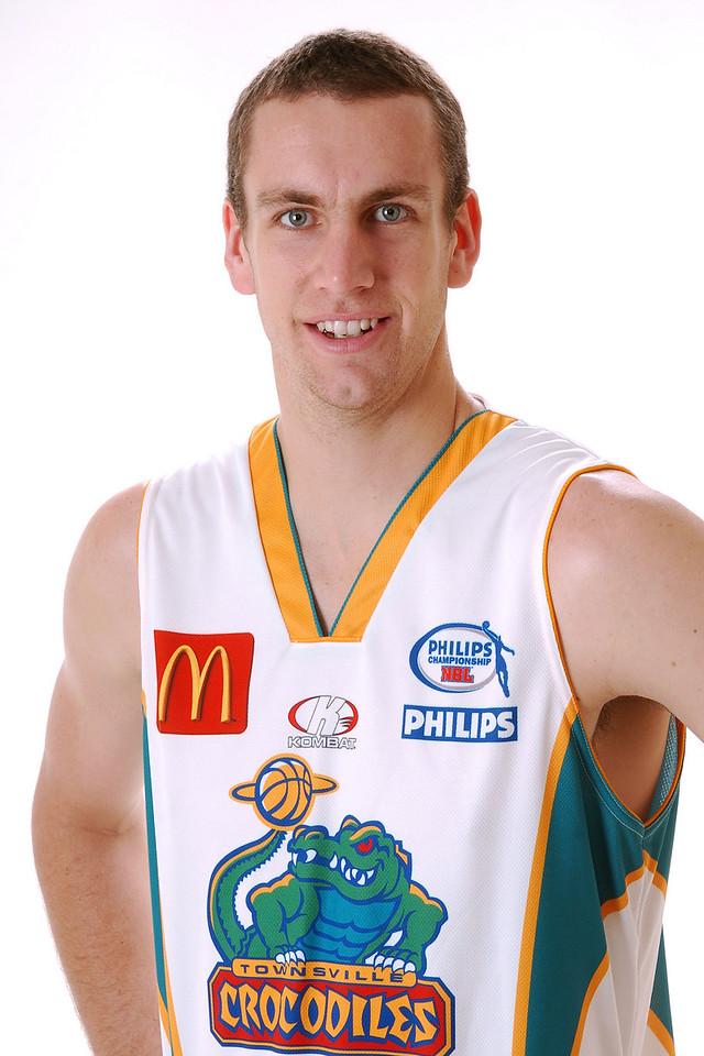 22 AUG 2006 - Greg Vanderjagt (Centre, 213cm, 114kg) - Away Playing Strip - Townsville McDonald's Crocodiles players/staff photos - PHOTO: CAMERON LAIRD (Ph: 0418 238811)