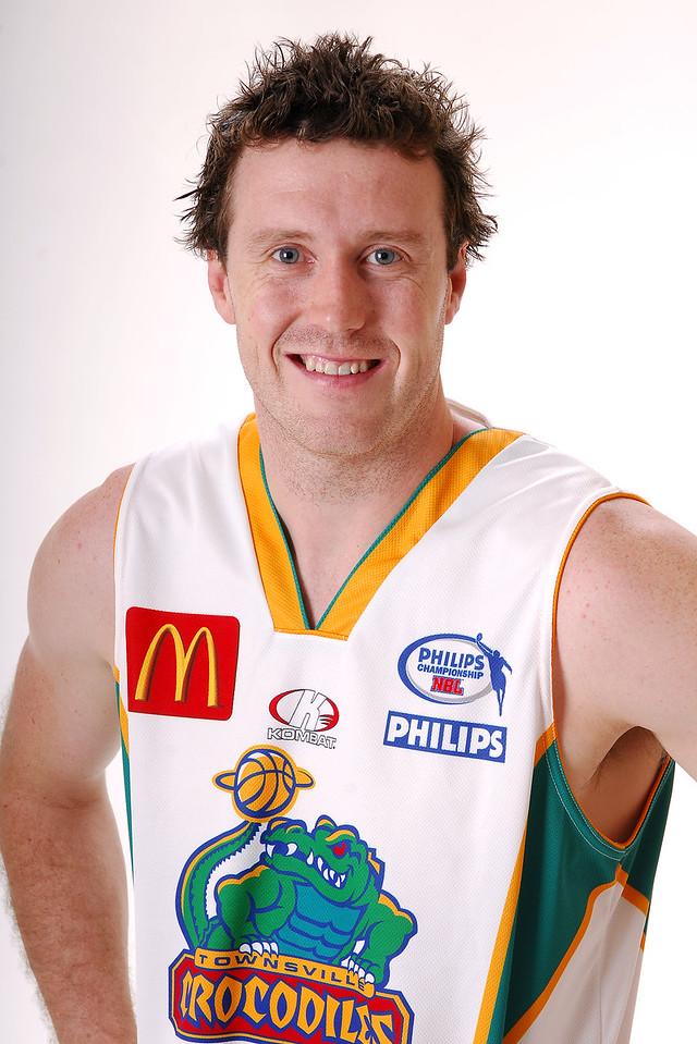 27 JUL 2006 - Daniel Egan #12 (Forward, 197cm, 100kg) - Away playing strip - Townsville McDonald's Crocodiles players/staff photos - PHOTO: CAMERON LAIRD (Ph: 0418 238811)