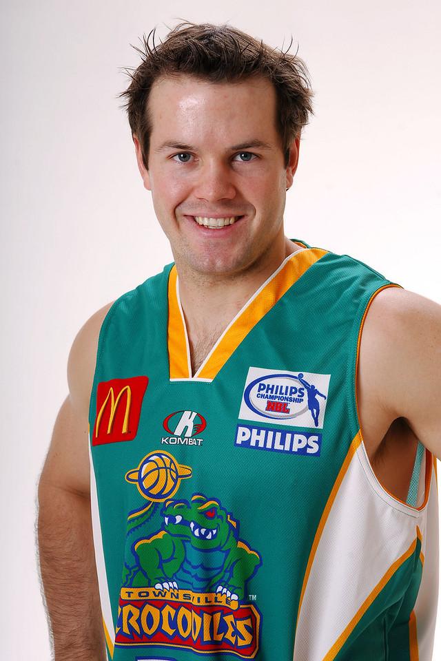 27 JUL 2006 - Kelvin Robertson #4 (Guard, 180cm, 84kg) - Home playing strip - Townsville McDonald's Crocodiles players/staff photos - PHOTO: CAMERON LAIRD (Ph: 0418 238811)