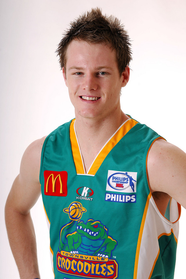 27 JUL 2006 - Brad Newley #20 (Guard, 199cm, 92kg) - Home playing strip - Townsville McDonald's Crocodiles players/staff photos - PHOTO: CAMERON LAIRD (Ph: 0418 238811)
