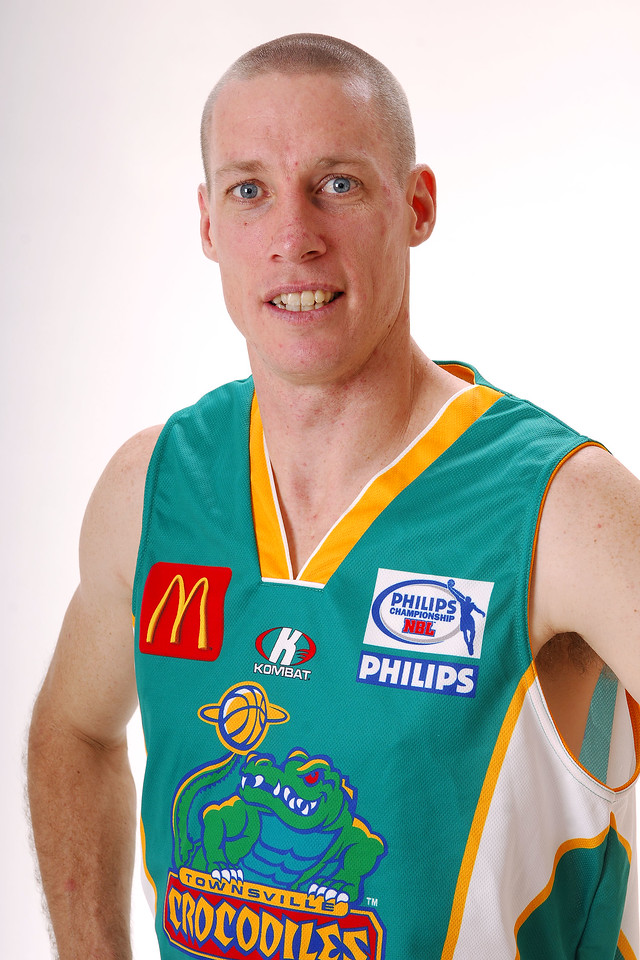 27 JUL 2006 - John Rillie #31 (Guard, 195cm, 85kg) - Home playing strip - Townsville McDonald's Crocodiles players/staff photos - PHOTO: CAMERON LAIRD (Ph: 0418 238811)