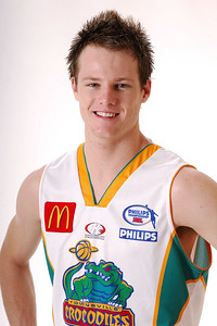 27 JUL 2006 - Brad Newley #20 (Guard, 199cm, 92kg) - Away playing strip - Townsville McDonald's Crocodiles players/staff photos - PHOTO: CAMERON LAIRD (Ph: 0418 238811)