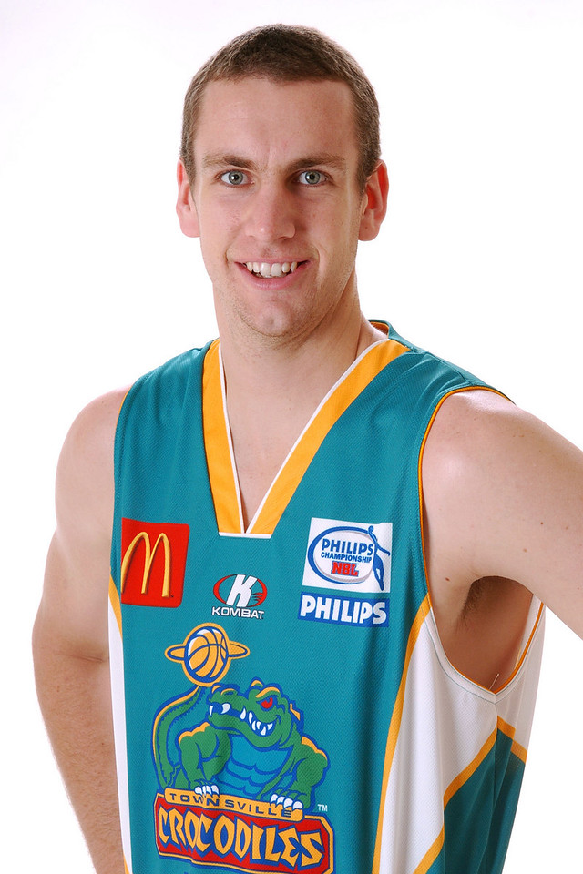 22 AUG 2006 - Greg Vanderjagt (Centre, 213cm, 114kg) - Home Playing Strip - Townsville McDonald's Crocodiles players/staff photos - PHOTO: CAMERON LAIRD (Ph: 0418 238811)