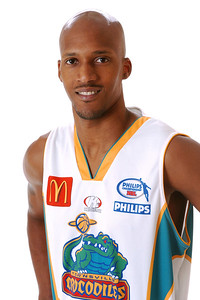 22 AUG 2006 - Jelani Gardner (Guard, 198cm, 93kg) - Away Playing Strip - Townsville McDonald's Crocodiles players/staff photos - PHOTO: CAMERON LAIRD (Ph: 0418 238811)