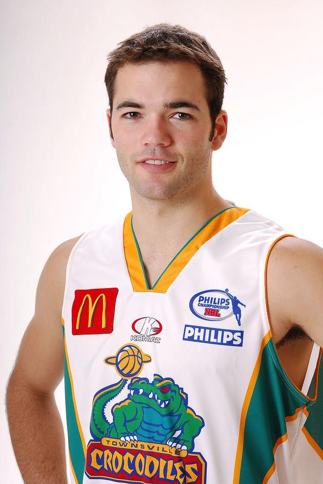 27 JUL 2006 - Drew Williamson #6 (Guard, 195cm, 86kg) - Away playing strip - Townsville McDonald's Crocodiles players/staff photos - PHOTO: CAMERON LAIRD (Ph: 0418 238811)