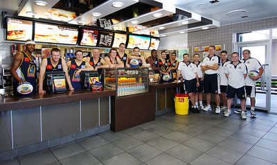 06 SEP 2006 TOWNSVILLE, QLD - 2006/07 Townsville McDonald's Crocodiles traymat photo - PHOTO: CAMERON LAIRD
