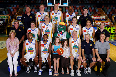 21 SEP 2005 TOWNSVILLE, QLD - Townsville McDonald's Crocodiles 2005-2006 Sponsors Photos.  Hilditch Plumbing & Ansell Chiropractic - PHOTO: CAMERON LAIRD