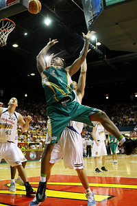 09 Feb 2008 Townsville, Qld, Australia - Crocodiles import Galen Young shoots in the opening half - Townsville Crocodiles v Brisbane Bullets (Townsville Entertainment & Convention Centre) - PHOTO: CAMERON LAIRD (Ph: 0418238811)