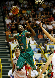 "01 Dec 2007 Townsville, Qld - Corey ""Homicide"" Williams loses grip in the opening quarter - Townsville Crocodiles v Perth Wildcats (Townsville Entertainment & Convention Centre) - PHOTO: CAMERON LAIRD (Ph: 0418 238811)"
