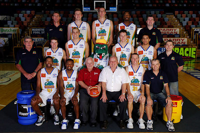 21 SEP 2005 TOWNSVILLE, QLD - Townsville McDonald's Crocodiles 2005-2006 Sponsors Photos.  Parry Nissan - PHOTO: CAMERON LAIRD