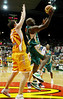 "08 Dec 2007 Townsville, Qld - Singapore's Chris Cameron can't stop Corey ""Homicide"" Williams - Townsville Crocodiles v Singapore Slingers (Townsville Entertainment & Convention Centre) - PHOTO: CAMERON LAIRD (Ph: 0418 238811)"